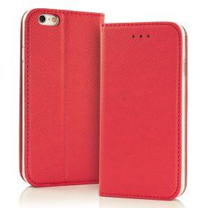 Magnetna preklopna torbica Samsung Galaxy rdeča