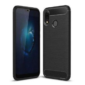 Zaščitni ovitek Carbon Huawei P20 Lite črn