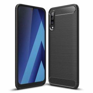 Zaščitni ovitek Carbon Samsung Galaxy A50 črn