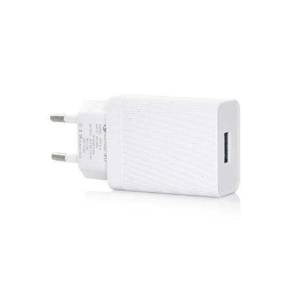 Hišni polnilec USB TC222 2.4A White Bela